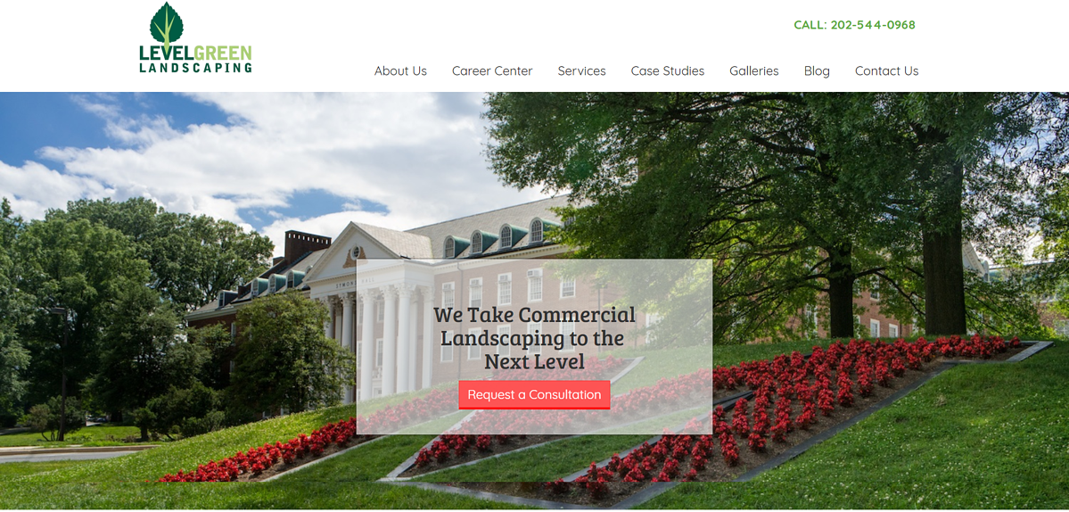 Level Green Landscaping homepage