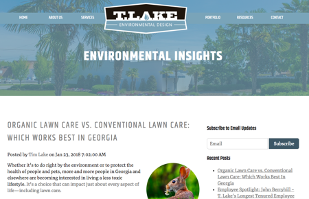 Using landscaping blog to sell more work and generate leads