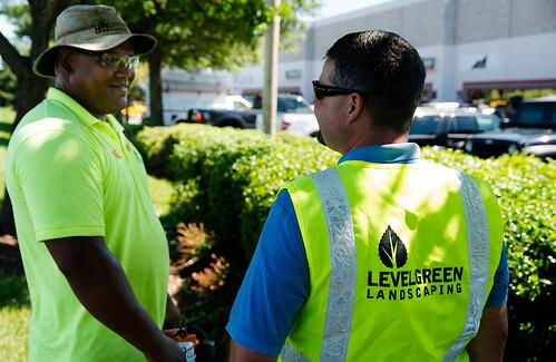 Level Green Landscaping employee meeting