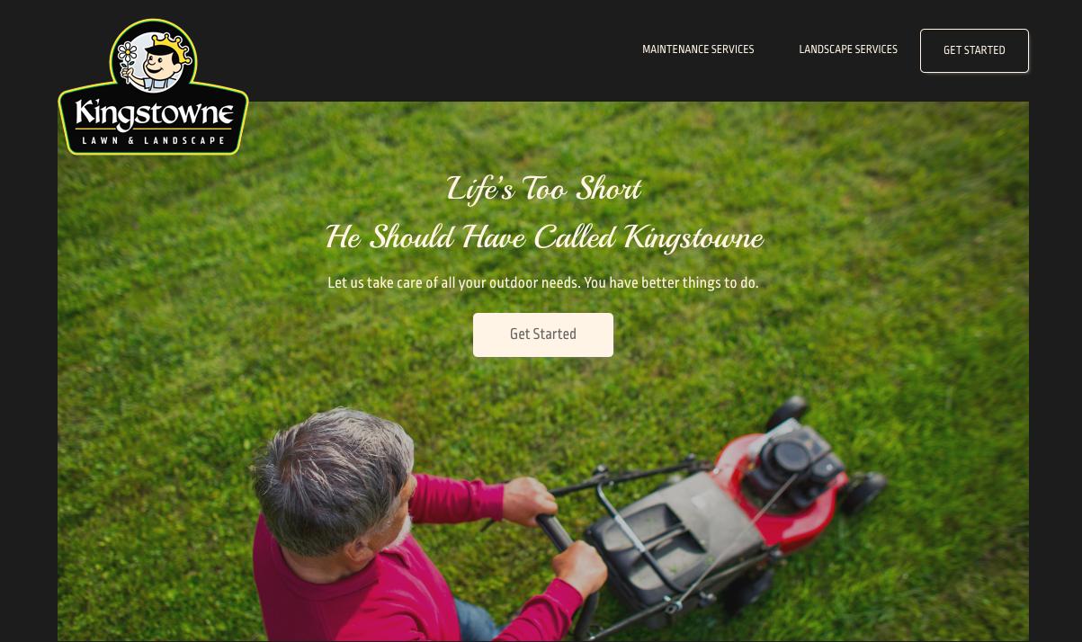 Kingstowne Lawn & Landscape marketing messaging