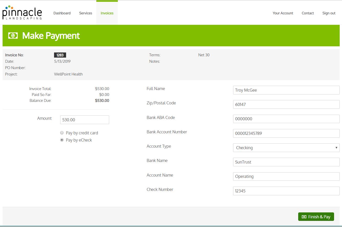 Portal ACH Payment