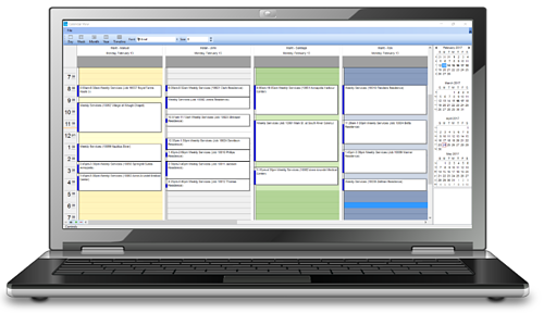 Landscape business software scheduling tool