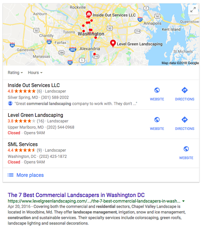 Commercial landscaping search results