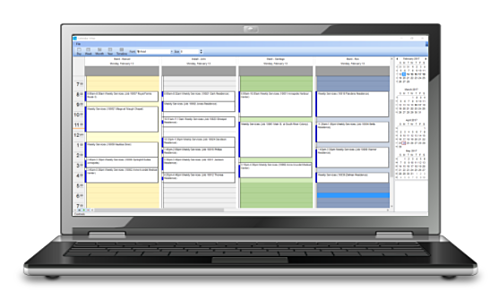 Benefits from using a landscape scheduling app and landscape scheduling software.