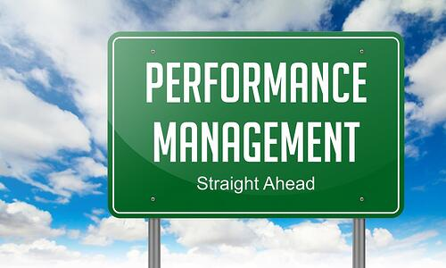 Employee performance management sign