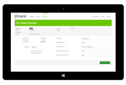 landscaping customer portal software