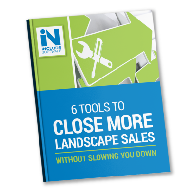Selling landscaping work with helpful sales tools
