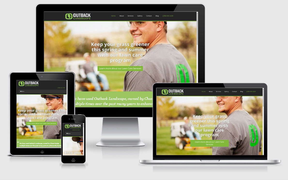website design for landscapers